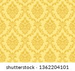 vector seamless damask gold... | Shutterstock .eps vector #1362204101