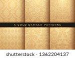 set of vector damask patterns.... | Shutterstock .eps vector #1362204137