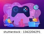 tiny people gamers playing... | Shutterstock .eps vector #1362206291