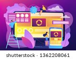 developers at computer and... | Shutterstock .eps vector #1362208061
