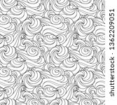 seamless abstract wave pattern... | Shutterstock .eps vector #1362209051