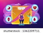 tiny people  overweight man on...   Shutterstock .eps vector #1362209711