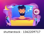 businessman sleeping in bed and ...   Shutterstock .eps vector #1362209717