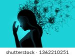 a women struggling with stress... | Shutterstock .eps vector #1362210251