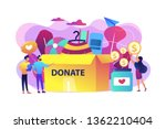 volunteers collecting goods for ... | Shutterstock .eps vector #1362210404