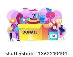 volunteers collecting goods for ... | Shutterstock .eps vector #1362210404