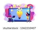 businessman with new project at ...   Shutterstock .eps vector #1362210407