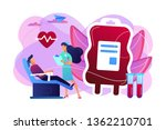 nurse with donor sitting in...   Shutterstock .eps vector #1362210701