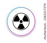 radioactive icon isolated on...   Shutterstock .eps vector #1362217274