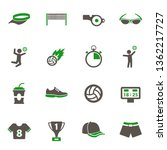 volleyball icons. set of 16... | Shutterstock .eps vector #1362217727