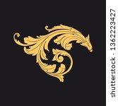 gold rococo ornament. retro... | Shutterstock .eps vector #1362223427