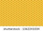 gold honey hexagonal cells... | Shutterstock .eps vector #1362241034