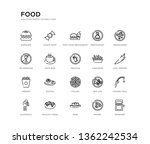 set of 20 line icons such as... | Shutterstock .eps vector #1362242534