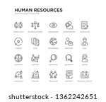 set of 20 line icons such as... | Shutterstock .eps vector #1362242651