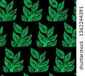 vector seamless grunge floral... | Shutterstock .eps vector #1362244391