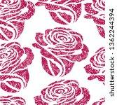 vector seamless grunge floral... | Shutterstock .eps vector #1362244394