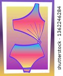 bright bathing suit on an... | Shutterstock .eps vector #1362246284
