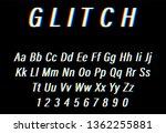 glitch font on black background.... | Shutterstock .eps vector #1362255881