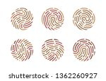set of fingerprints isolated on ... | Shutterstock .eps vector #1362260927