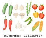 vegetable collection icon. set... | Shutterstock .eps vector #1362269597