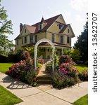 yellow house on corner | Shutterstock . vector #13622707