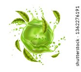 green juice splash with green... | Shutterstock .eps vector #1362276191