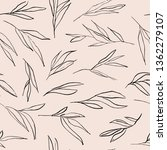 vector hand drawn rough leaves... | Shutterstock .eps vector #1362279107