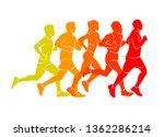 running marathon  people run ... | Shutterstock .eps vector #1362286214