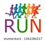 running marathon  people run ... | Shutterstock .eps vector #1362286217