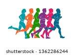running marathon  people run ...   Shutterstock .eps vector #1362286244