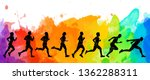 running marathon  people run ... | Shutterstock . vector #1362288311