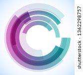 geometric frame from circles ... | Shutterstock .eps vector #1362298757