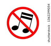 music are not allowed  red... | Shutterstock .eps vector #1362299054