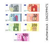 large set of different euro... | Shutterstock .eps vector #1362299471