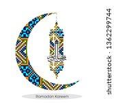 ramadan kareem arabic...   Shutterstock .eps vector #1362299744