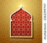 ramadan kareem greeting card...   Shutterstock .eps vector #1362299747