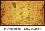 design art vintage map city... | Shutterstock .eps vector #1362302564