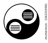 wave icon. vector. black and... | Shutterstock .eps vector #1362310481