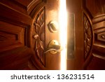 open door light | Shutterstock . vector #136231514