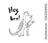 cute dinosaur color hand drawn...   Shutterstock .eps vector #1362320951