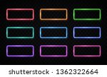 colorful neon frames set. red ... | Shutterstock .eps vector #1362322664