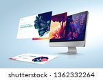 web design template. vector... | Shutterstock .eps vector #1362332264