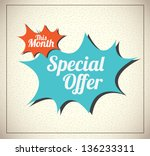 special offer over vintage... | Shutterstock .eps vector #136233311