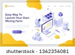 landing page template with... | Shutterstock .eps vector #1362356081