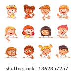 cartoon collection of little... | Shutterstock .eps vector #1362357257