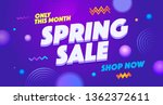 spring sell out vector web... | Shutterstock .eps vector #1362372611