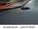 indoor kart racing on the go... | Shutterstock . vector #1362373034