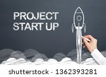 start up project concept with... | Shutterstock . vector #1362393281