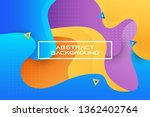 colorful gradient geometric... | Shutterstock .eps vector #1362402764