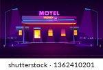 round the clock  roadside motel ...   Shutterstock .eps vector #1362410201
